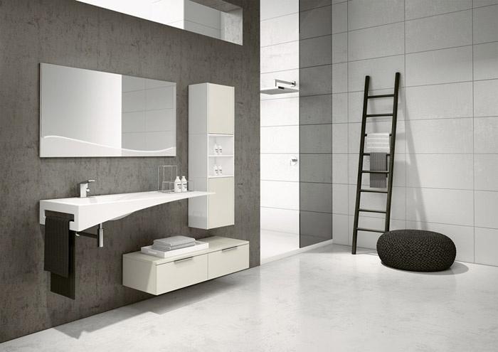Arredamenti milani lavabo bagno arredo bagno varese for Mobile bagno minimal