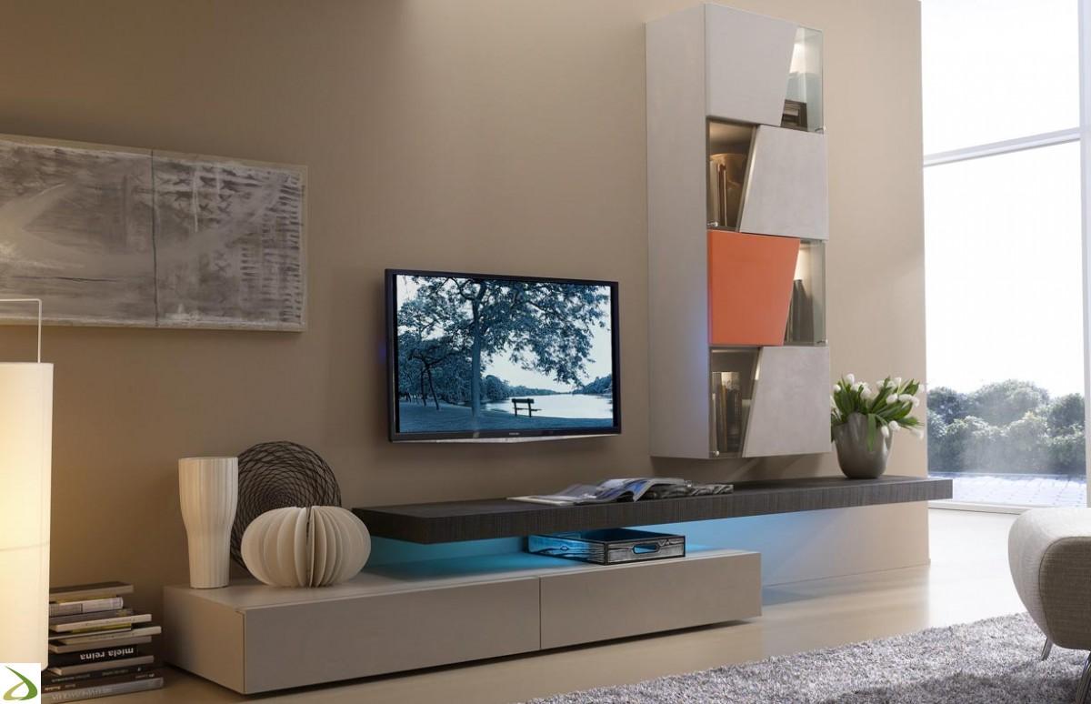 Illuminazione Soggiorno Moderno : Soggiorno moderno friend composizione parete di design comprese